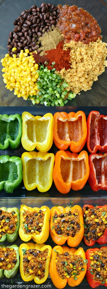 Vegan Mexican Quinoa Stuffed Peppers