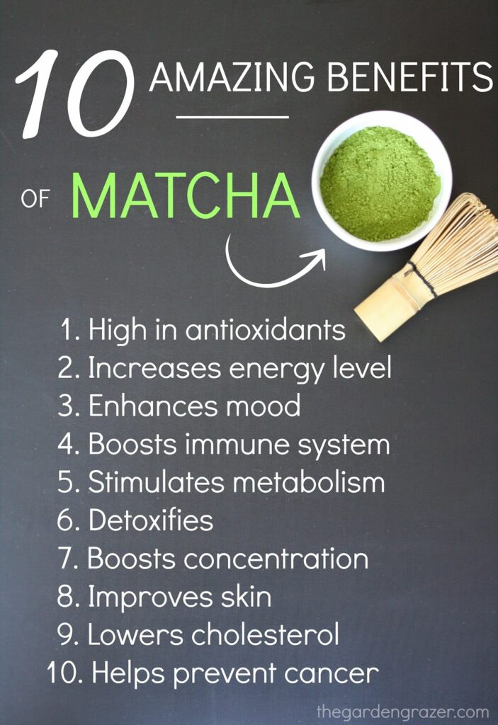 A list of 10 Amazing Benefits of drinking matcha green tea